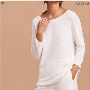 Wilfred Ribbed Blanchard Sweater Beige Small